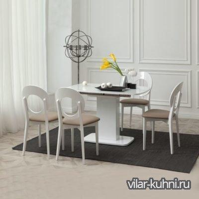 «Стол Рио + 4 Стула Эвелина-2»