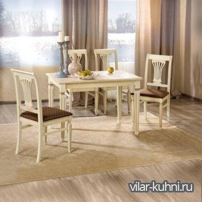 «Стол Дижон-АМ+4 стула Рита»