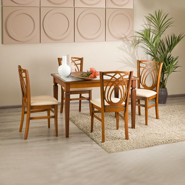 «Стол Дижон-АМ+4 стула Виола»