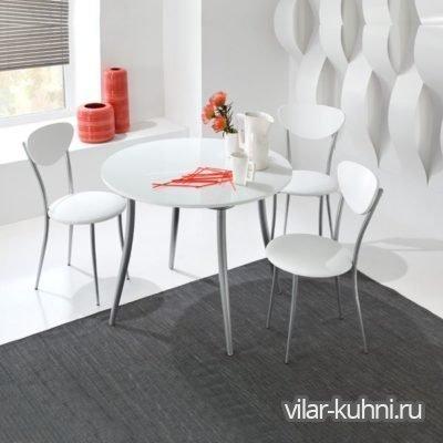 «Стол Милан-2 ХРГ +4 стула Смайл»