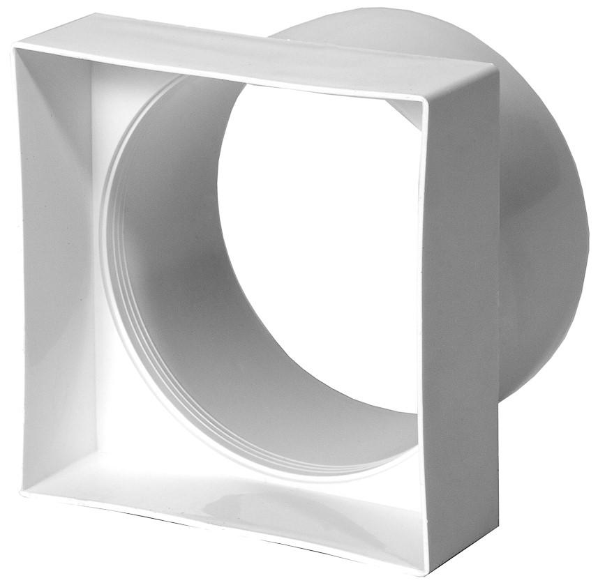 Кварц Переходник квадрат 92/ диаметр 100