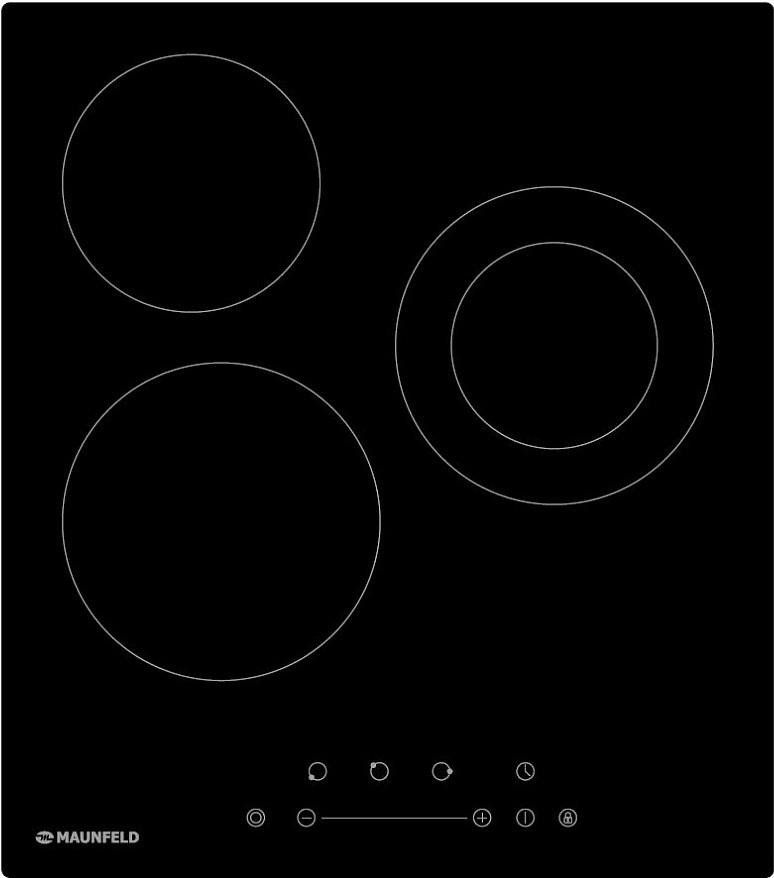 MAUNFELD EVCE.453.D-BK, черное стекло