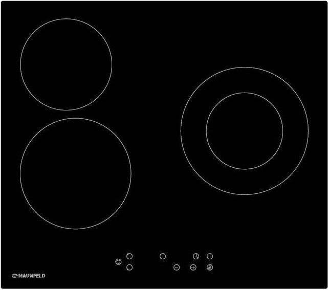 MAUNFELD EVCE.593.D-BK, черное стекло